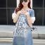 Lady Ribbon Dress Korea LR17190516 &#x1F380 Lady Ribbon's Made &#x1F380 Lady Lauren Street Style Chic Cotton and Printed Denim Dress เดรสผ้าเดนิม thumbnail 2
