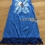 Lady Ribbon Korea Denim Dress LR12270616 &#x1F380 Lady Ribbon's Made &#x1F380 Lady Angela Sweet Vintage White Embroidered Denim Dress thumbnail 5