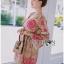 Lady Ribbon Korea Dress LR15060616 &#x1F380 Lady Ribbon's Made &#x1F380 Lady Chloe Sweet Feminine Graphic Pink Floral Printed Dress thumbnail 3