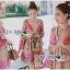 Lady Ribbon Korea Dress LR15060616 &#x1F380 Lady Ribbon's Made &#x1F380 Lady Chloe Sweet Feminine Graphic Pink Floral Printed Dress thumbnail 1