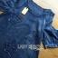 Lady Ribbon Korea Dress Denim LR07230616 &#x1F380 Lady Ribbon's Made &#x1F380 Lady Savina Cool Chic Shoulder Cut-Oul Star Embroidered Denim Dress เดรสผ้า thumbnail 4