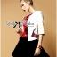 Lady Ribbon's Made &#x1F380 Lady Julianna Sassy Embellished Surreal Print Blouse thumbnail 2