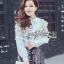 Lady Ribbon Korea Lace Cotton Dress Shirt เดรสเชิ้ตผ้าคอตตอน thumbnail 6