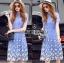 Lady Ribbon Korea Dress LR02160616 &#x1F380 Lady Ribbon's Made &#x1F380 Lady Amanda Sweet Feminine Butterfly Embroidered Polyester Dress thumbnail 3