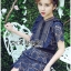 Lady Ribbon Korea Dress LR12200616 &#x1F380 Lady Ribbon's Made &#x1F380 Self-Portrait Louisa Guipure Lace Dress เดรสผ้าลูกไม้สีกรมท่า thumbnail 2