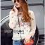 Lady Ribbon Korea Closet LR09160616 &#x1F380 Lady Ribbon's Made &#x1F380 Sretsis Labyrinth Floral Embroidered Organza Blouse Closet Design thumbnail 2