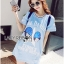 Lady Ribbon Korea Dress LR01130616 &#x1F380 Lady Ribbon's Made &#x1F380 Lady Julie Sporty Style Printed and Sequin Denim Dress thumbnail 4