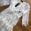 Lady Ribbon Dress LR03300516 &#x1F380 Lady Ribbon's Made &#x1F380 Lady Eva Classic White Polyester and Lace Ruffle Dress thumbnail 6