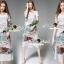 Lady Ribbon Korea Brand SS15300516 Seoul Secret Say's .... Telegraph Planty Paint Brush Style Long Dress thumbnail 1