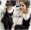 &#x1F380 Lady Ribbon's Made &#x1F380 Lady Rachel Casual Minimal Chic Black and White Blouse set thumbnail 1