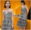 Lady Ribbon Korea Mini Dress LR08160616 &#x1F380 Lady Ribbon's Made &#x1F380 Lady Azelea Monochrome Lace Mini Dress thumbnail 1