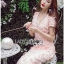 Lady Ribbon Korea Dressเสื้อผ้า LR21010816 &#x1F380 Lady Ribbon's Made &#x1F380 Lady Gabriella Sexy Feminine Flower Embroidered Pinky Dress เดรสผ้าลูกไม้สีชมพู thumbnail 5