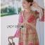 Lady Ribbon Korea Dress LR15060616 &#x1F380 Lady Ribbon's Made &#x1F380 Lady Chloe Sweet Feminine Graphic Pink Floral Printed Dress thumbnail 2