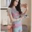 Lady Ribbon เสื้อผ้าเกาหลี LR13140716 &#x1F380 Lady Ribbon's Made &#x1F380 Lady Rachel Rainbow Pastel Striped Lace Set thumbnail 2