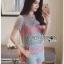 Lady Ribbon เสื้อผ้าเกาหลี LR13140716 &#x1F380 Lady Ribbon's Made &#x1F380 Lady Rachel Rainbow Pastel Striped Lace Set thumbnail 4