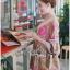 Lady Ribbon Korea Dress LR15060616 &#x1F380 Lady Ribbon's Made &#x1F380 Lady Chloe Sweet Feminine Graphic Pink Floral Printed Dress thumbnail 5