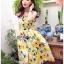 Lady Ribbon Dress Lady Ribbon Korea LR19190516 &#x1F380 Lady Ribbon's Made &#x1F380 Lady Chloe Yellow Mellow Floral Printed Button Dress เดรสแขนกุด thumbnail 5