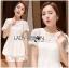 Lady Ribbon Korea LR01300516 &#x1F380 Lady Ribbon's Made &#x1F380 Lady Laurel Classic Sweet Lace Peplum Top and Short Ensemble Set thumbnail 2