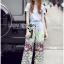 Lady Ribbon Korea LR12190516 &#x1F380 Lady Ribbon's Made &#x1F380 Lady Aimee Summer Casual Birdy Printed Jersey Cotton T-Shirt and Pants Set เซ็ตเสื้อทีเชิ้ต thumbnail 6