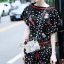 Korea Design By brand cliona Lavida fashionista colorful printed black chic jumpsuit coed733 จั้มสูททรงยาว ดีไ thumbnail 1