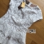 Lady Ribbon's Made &#x1F380 Lady Elizabeth Sweet Feminine Layered Mini Lace Dress in White thumbnail 9