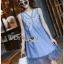 Lady Ribbon Korea Denim Dress LR12270616 &#x1F380 Lady Ribbon's Made &#x1F380 Lady Angela Sweet Vintage White Embroidered Denim Dress thumbnail 3