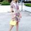 Lady Ribbon Korea Brand SS12300516 Seoul Secret Say's .... Violetta Blossom Softly Color Dress thumbnail 5