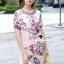 Lady Ribbon Korea Brand SS12300516 Seoul Secret Say's .... Violetta Blossom Softly Color Dress thumbnail 3