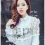 Lady Ribbon Korea Lace Cotton Dress Shirt เดรสเชิ้ตผ้าคอตตอน thumbnail 5