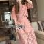 Lady Ribbon เสื้อผ้าเกาหลี LR12110716 &#x1F380 Lady Ribbon's Made &#x1F380 Lady Charlotte Pinky Feminine Hearty Embroidered cloSet เ thumbnail 3