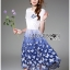 Lady Ribbon Dress LR06300516 &#x1F380 Lady Ribbon's Made &#x1F380 Lady Nadia Pretty Casual Blue Butterflies Embroidered Dress เดรส thumbnail 5