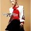 Lady Ribbon's Made &#x1F380 Lady Julianna Sassy Embellished Surreal Print Blouse thumbnail 3