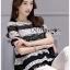 Lady Ribbon Dress Korea LR13190516 &#x1F380 Lady Ribbon's Made &#x1F380 Lady Georgina Striped Lace Top with Dress Korea Pleated Frills เสื้อผ้าลูกไม้ลาย thumbnail 5