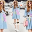 Lady Ribbon Korea Brand SS03300516 Seoul Secret Say's... Pastel Fink Paint Denim Dress thumbnail 1