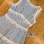 Lady Ribbon Korea เสื้อผ้าเกาหลี ของแท้พร้อมส่ง Lady Ribbon Dress LR10250716 &#x1F380 Lady Ribbon's Made &#x1F380 Lady Ariana Sweet Feminine White and Blue Lace Dress เดรสผ้าลูกไม้สีฟ้า thumbnail 5
