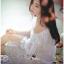 Lady Ribbon Korea Dress Lady Ribbon's Made Lady Paula Pure Princess Laser-Cut Off-Shoulder Cotton Maxi Dress thumbnail 4