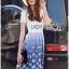 Lady Ribbon Dress LR06300516 &#x1F380 Lady Ribbon's Made &#x1F380 Lady Nadia Pretty Casual Blue Butterflies Embroidered Dress เดรส thumbnail 4