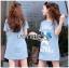 Lady Ribbon Korea Dress LR01130616 &#x1F380 Lady Ribbon's Made &#x1F380 Lady Julie Sporty Style Printed and Sequin Denim Dress thumbnail 1
