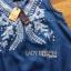 Lady Ribbon Korea Denim Dress LR12270616 &#x1F380 Lady Ribbon's Made &#x1F380 Lady Angela Sweet Vintage White Embroidered Denim Dress thumbnail 4