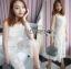 Lady Ribbon เสื้อผ้าเกาหลี LR06110716 &#x1F380 Lady Ribbon's Made &#x1F380 Lady Katy Smart Casual White Guipure Lace Jumpsuit thumbnail 3