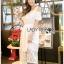 Lady Ribbon Korea Dress Lady Ribbon Korea LR23190516 &#x1F380 Lady Ribbon's Made &#x1F380 Lady Amanda Pretty Sweet Off-Shoulder Lace Dress เดรสผ้าลูกไม้ thumbnail 5