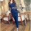 Lady Ribbon Korea Dress LR03060616 &#x1F380 Lady Ribbon's Made &#x1F380 Lady Kimberley Smart and Sexy Black Lace with Denim Set เ thumbnail 5