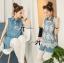 Lady Ribbon's Made &#x1F380 Lady Mariam Mix Lace and Cotton Denim Shirt Dress Korea thumbnail 4