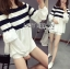 Lady Ribbon Dress LR11120516 &#x1F380 Lady Ribbon's Made &#x1F380 Lady Sarah Casual Chic Striped Polyester Blouse Dress thumbnail 5