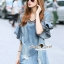 Lady Ribbon Korea Brand SS13060616 Seoul Secret Say's... V Stripy Oranamental Fringe Sleeve Denim Dress thumbnail 3