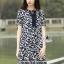 Lady Ribbon Korea Closet LV02090616 &#x1F36D Korea Design By Lavida ethnic leaf printed rope neck loose feminine dress thumbnail 5