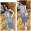 Lady Ribbon Korea Dress Korea LR17300616 &#x1F380 Lady Ribbon's Made &#x1F380 Lady Shannon Embroidered and Laser-Cut Denim Shirt Dress thumbnail 1