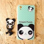 King Mi เคสการ์ตูน+แหวนติดพู่ห้อย A37 panda