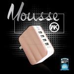 ที่ชาร์จไฟ 4 ช่อง WK Mousse Charger 6A. (Pink Gold)