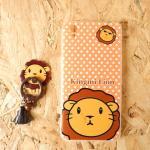 King Mi เคสการ์ตูน+แหวนติดพู่ห้อย A37 lion